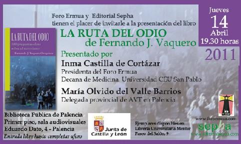 Las víctimas del terrorismo estamos cumpliendo cadena perpetua, aseguró María Olvido del Valle Barrios, delegada provincial de AVT en Palencia